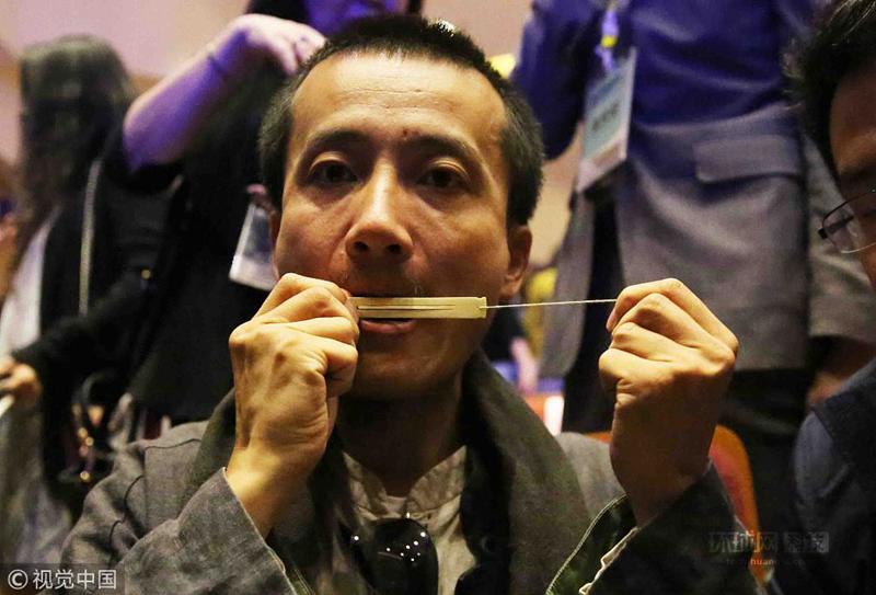 陕西省考古研究院、西安音乐学院、神木市石峁遗址管理处在西安音乐学院艺术中心联合举办新闻发布会暨口弦琴首展开幕式。