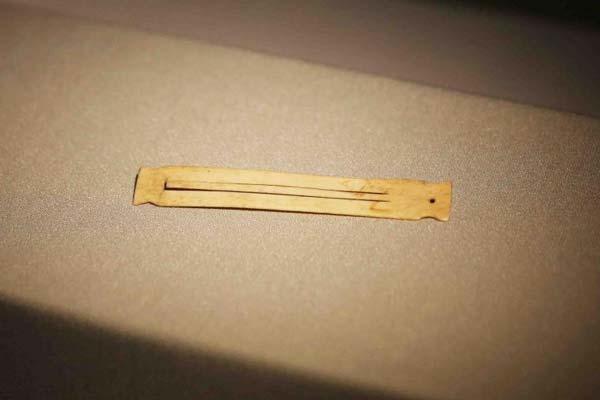 神木石峁遗址发现骨制口弦琴 距今约4000年