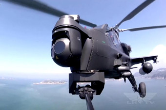 武直-10机群带弹出动 低空火力打击画面震撼