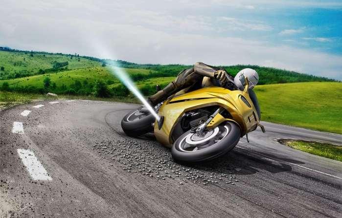 对抗离心力防侧摔 博士推出摩托车用喷气推进器