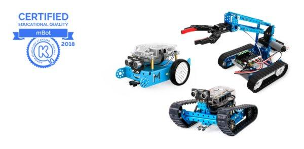 Makeblock mBot系列教育机器人得芬兰Kokoa国际教育标准认证