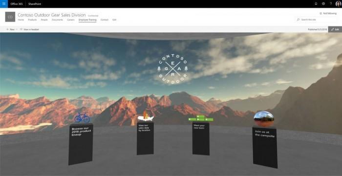 SharePoint更新:引入AI功能 支持混合现实体验