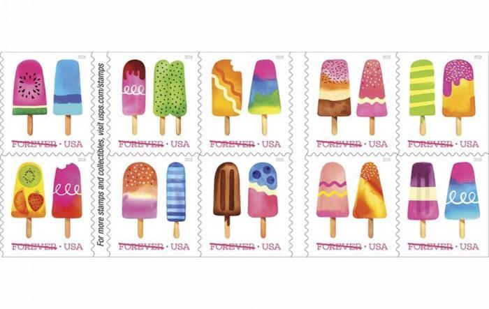 """美邮政局推首批""""擦擦嗅""""邮票 夏日水果冰淇淋味"""