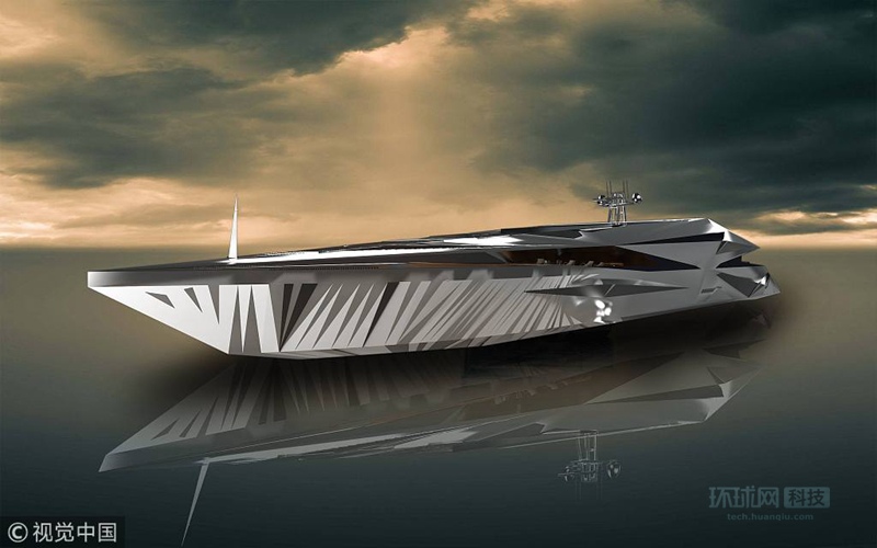 【环球网科技报道】2018年5月22日讯(具体拍摄时间不详),来自摩纳哥的设计师George Lucian梦想打造一款世界级的未来超级概念游艇,日前,他向外界公布了设计图。