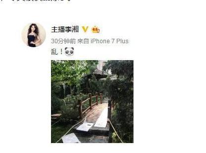 李湘晒豪宅一角后删除 花园别墅十分气派!