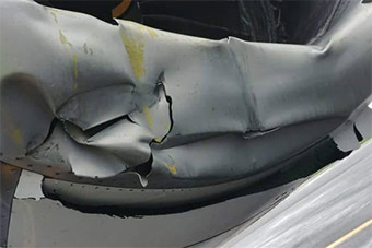 又出事:A320客机降落时被吹出跑道 发动机受损