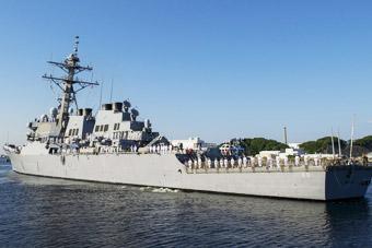 防御导弹?美国追加部署宙斯盾舰抵达日本