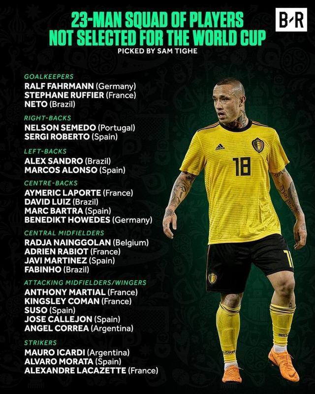 世界杯落选23人:意甲金靴那英莫拉塔 笨马落选
