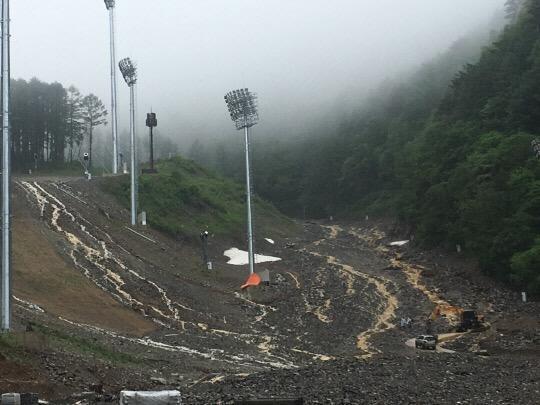 遭大雨侵袭山体坍塌 平昌冬奥会的这个场馆要垮了?