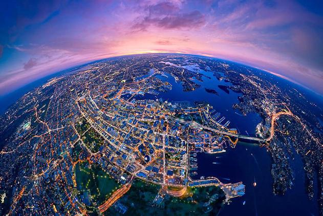 绝美航拍!澳摄影师用直升机拍摄城市景观