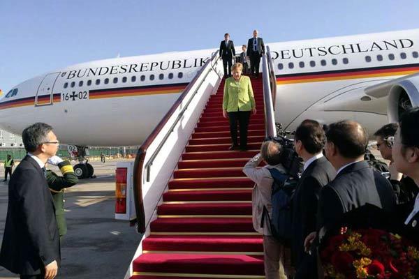 德国总理默克尔抵京 开启第11次中国之行