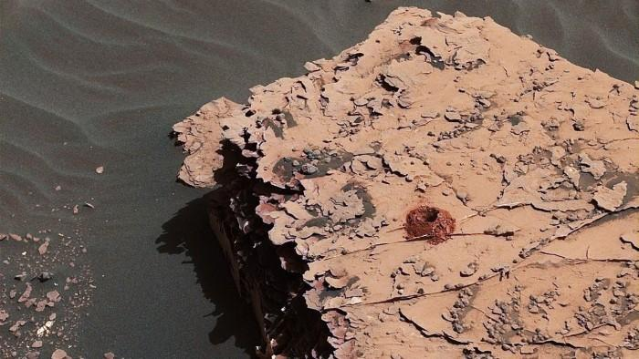 """NASA""""好奇号""""探测器在火星上尝试全新钻探方法"""