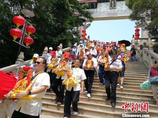 台湾四家宫庙联合赴湄洲妈祖祖庙谒祖进香