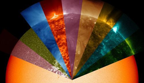 """NASA又发""""紫太阳"""":似一团花球 充满神秘色彩"""