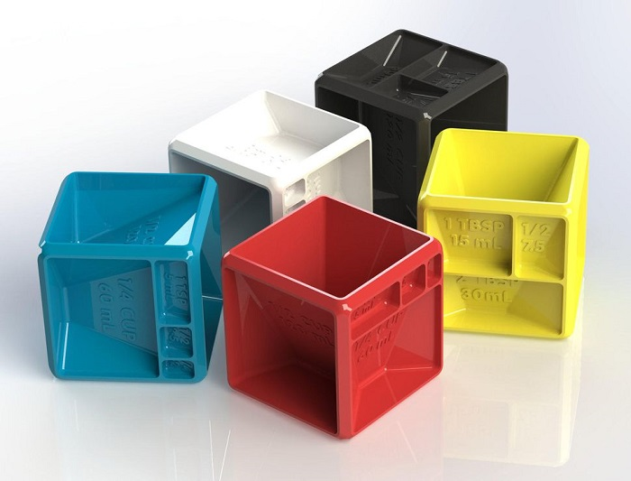 3D打印多功能:厨房计量神器BakerCube即将众筹