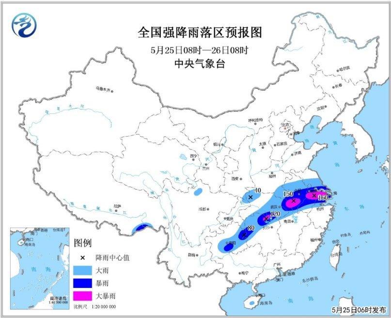长江中下游等地将有强降水 较强冷空气将影响北方