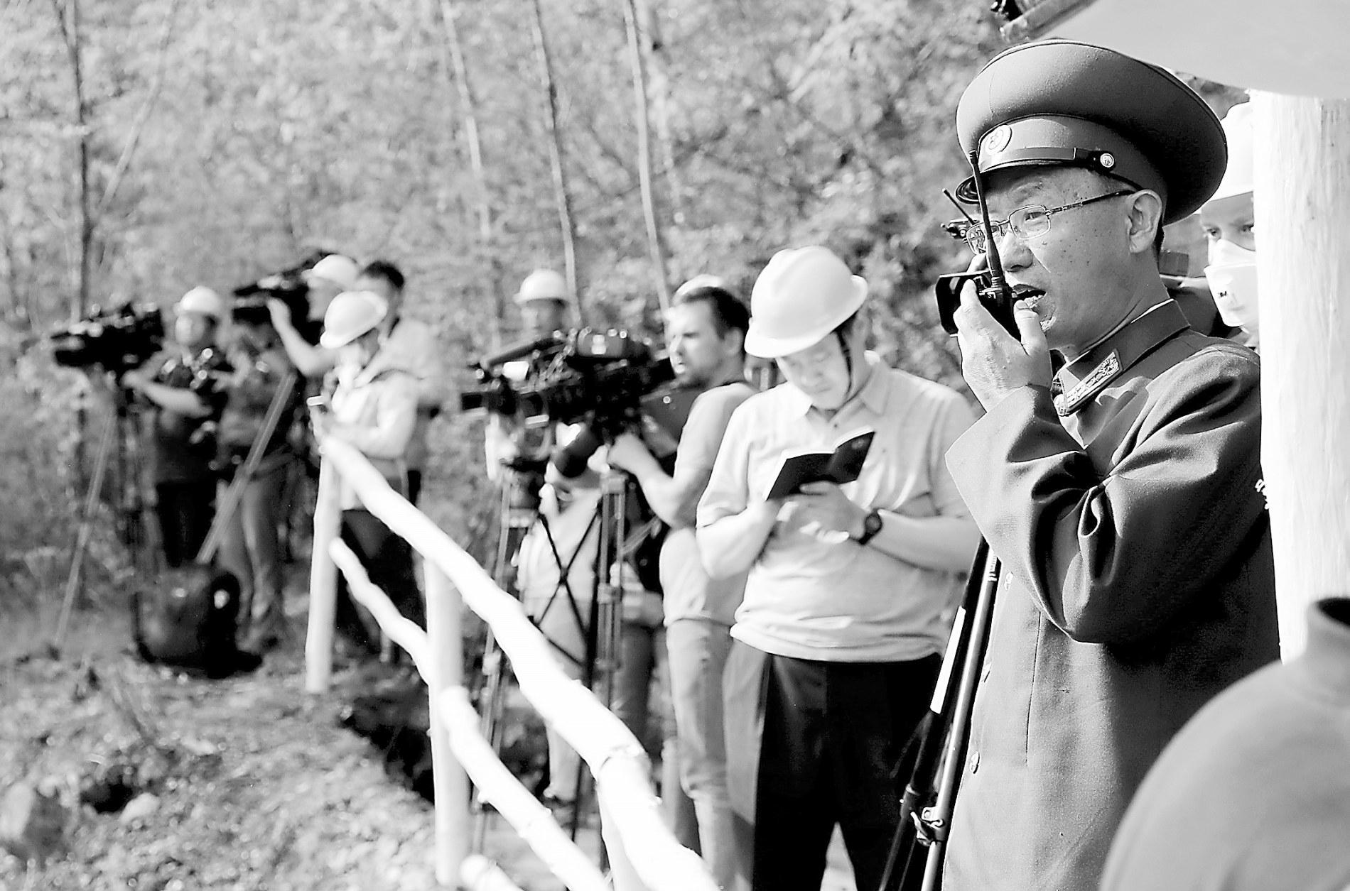 多国记者发布丰溪里炸毁实录 朝方人员:不可能再重新恢复