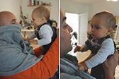 蒙圈了!匈牙利宝宝首次见剃掉胡子的爸爸认不出