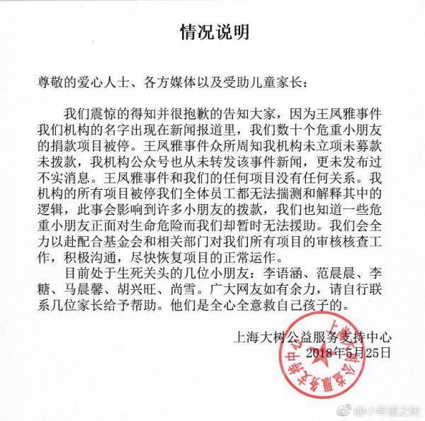 """""""王凤雅之死""""事件续:相关公益机构项目被停"""