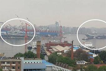 大连人民有福了:2艘航母同框盛况空前