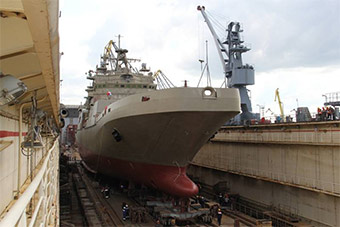 俄罗斯终于有第二艘5000吨级新军舰下水了!