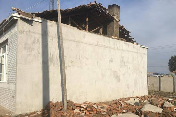 吉林松原地震造成50多户房屋受损