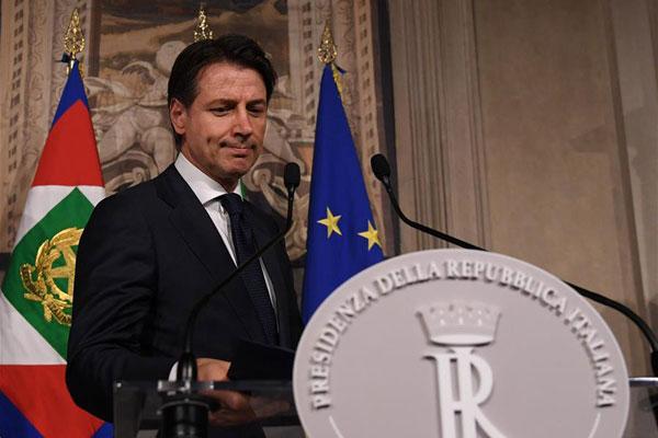 意大利新总理提出放弃组阁请求并得到确认