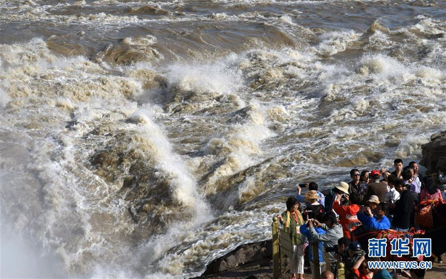 黄河壶口瀑布水量大增