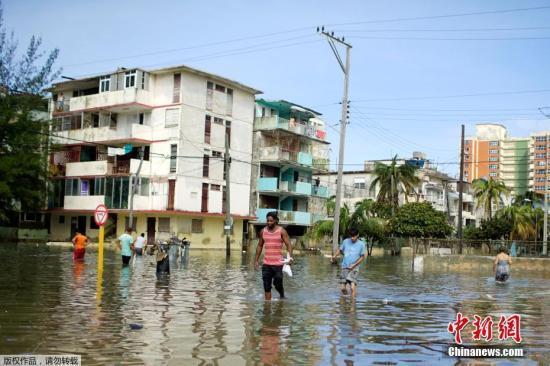 古巴因亚热带风暴疏散5000多人 未来还有强降雨