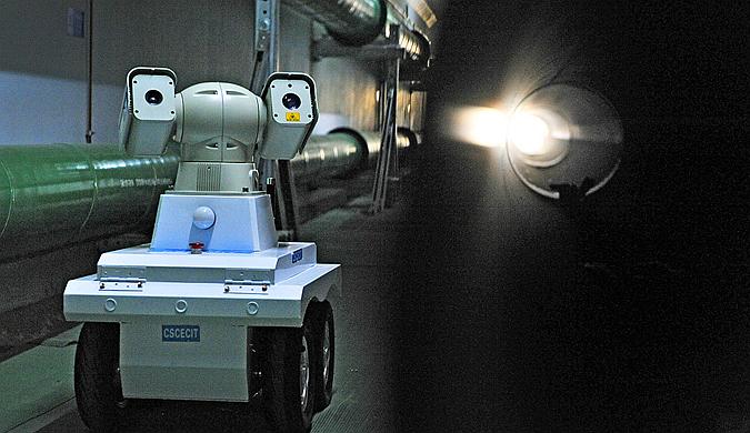 """西安:地下管网巡检 智能机器人""""上岗"""""""