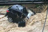 美马里兰州突发洪水 湍流不止冲毁汽车房屋