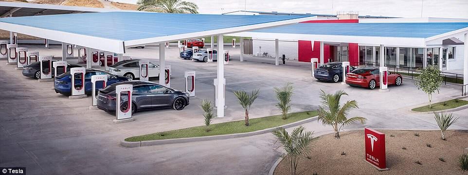 特斯拉2019年底前将在全球建1万座快速充电站