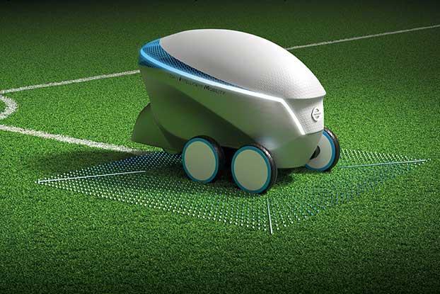 日产自动驾驶核心技术新用途:精准绘制足球场