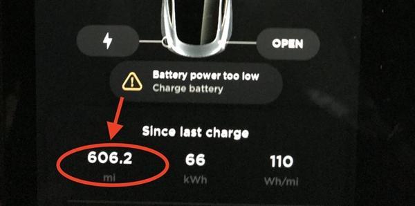 特斯拉Model 3创下单次充电续航新纪录:975公里