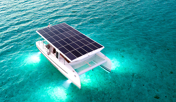 荷兰公司推出豪华太阳能电动游艇 售价363万人民币