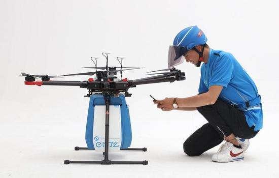 中国首条外卖无人机航线获批 配送新模式诞生