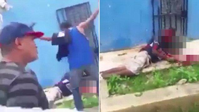 哥伦比亚男子涉嫌强奸 当街被愤怒民众殴打身亡