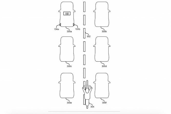 福特提交专利申请 可检测钻车缝的摩托车骑行者