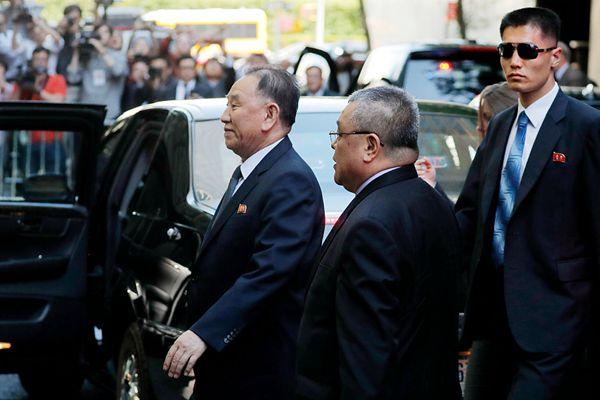 朝鲜劳动党副委员长金英哲抵达纽约