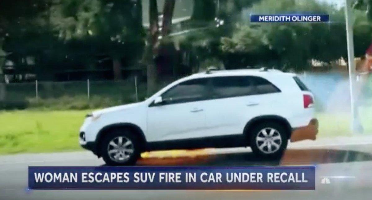 美国一SUV行驶中底部意外自燃 车主毫不知情