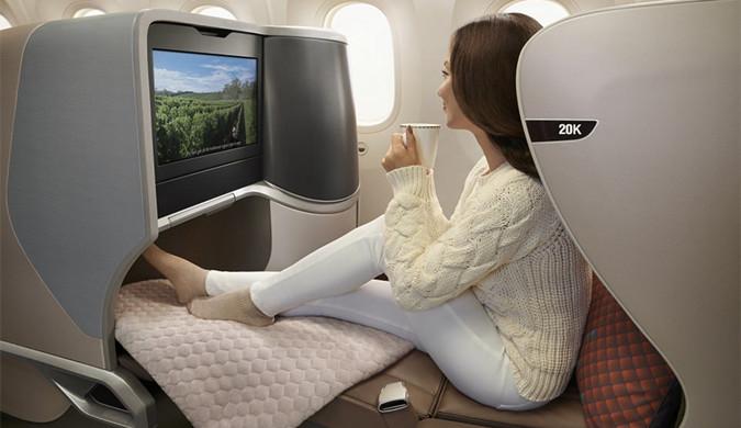 新加坡航空公司波音787-10梦幻客机豪华内置曝光