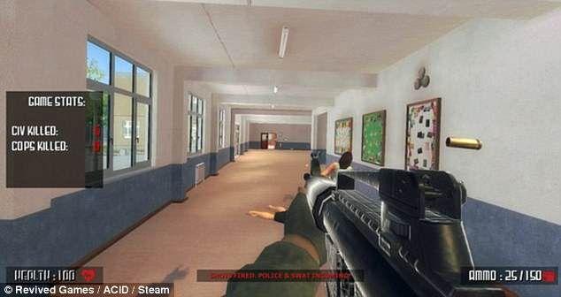 模拟校园射击类游戏引公愤 遭Steam下架