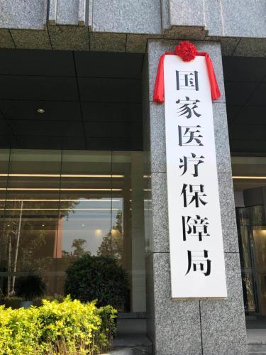 来了!国家医疗保障局正式挂牌 胡静林任局长(图)