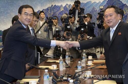韩朝首席代表单独会晤 就联合新闻稿协调立场