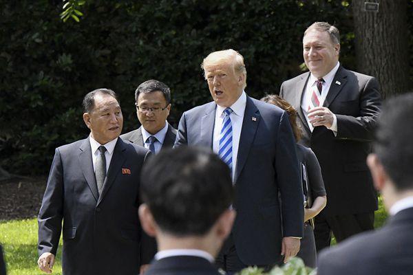 特朗普会见金英哲 称美朝领导人会晤将如期举行