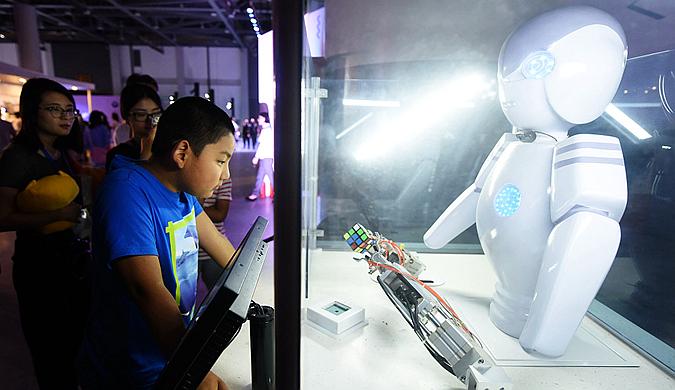 """杭州举办未来生活展:""""黑科技""""满满"""