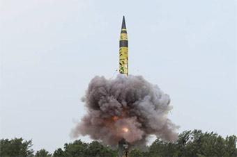 印度最强洲际弹道导弹第6次成功试射 可带核弹头
