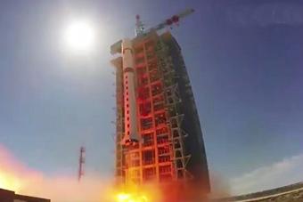动图带你感受中国火箭穿云破空星箭分离