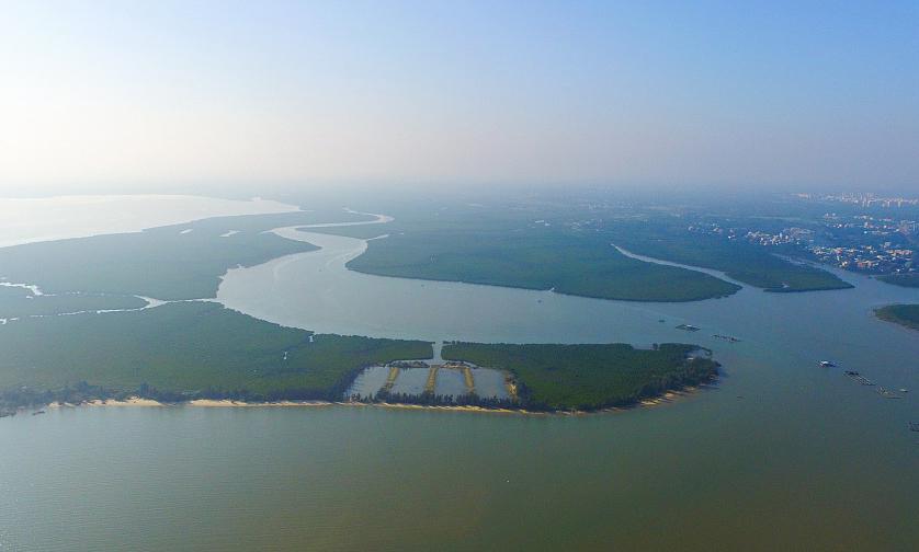 航拍海口江东新区  将建设海南自贸区重点先行区域