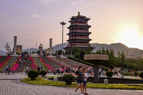 北京:门城湖水利风景区成京西市民休闲纳凉好去处